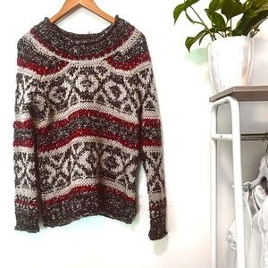 Free People Womens Oversized Long Sleeve Round Neck Pullover Sweater Size XS